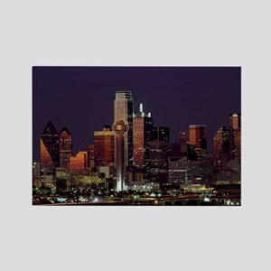 Dallas Skyline at Night Magnets